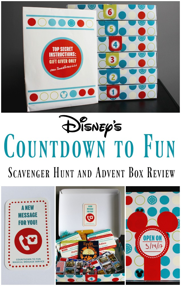 Disney's Countdown to Fun Vacation Reveal Scavenger Hunt and Advent Boxes | Review by Redheadbabymama.com