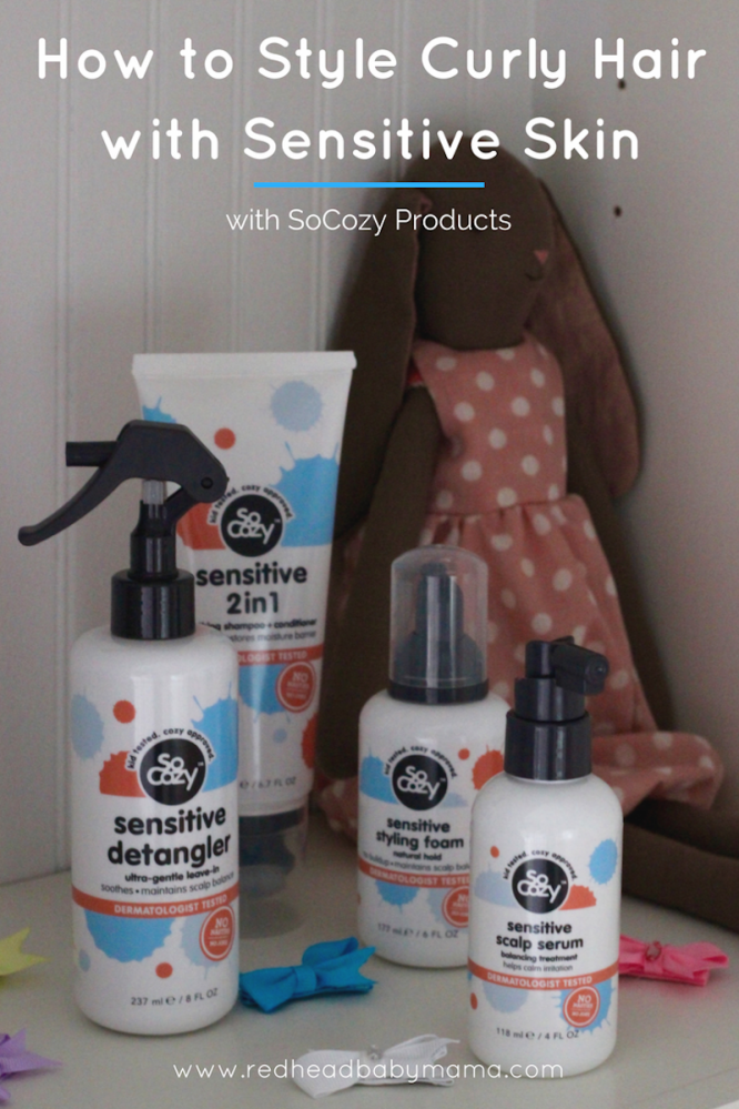 SoCozy Sensitive Skin Products for Styling Curly Hair | Redheadbabymama.com
