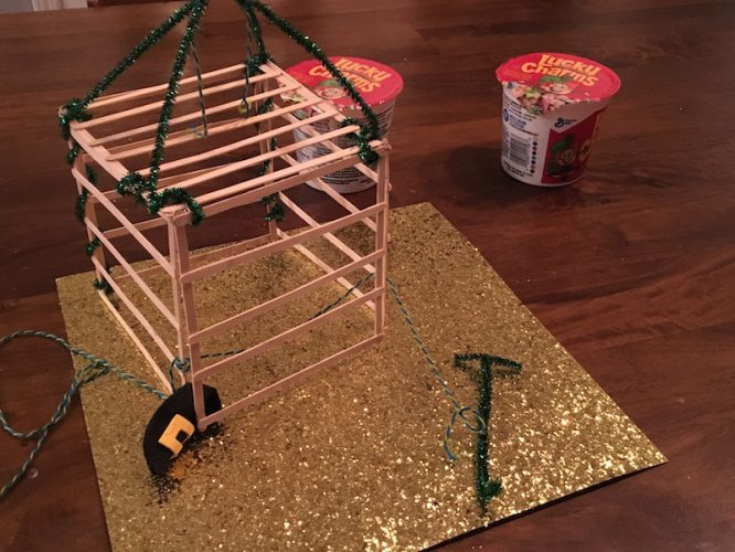 Leprechaun Trap with Proof that he was there... and escaped!