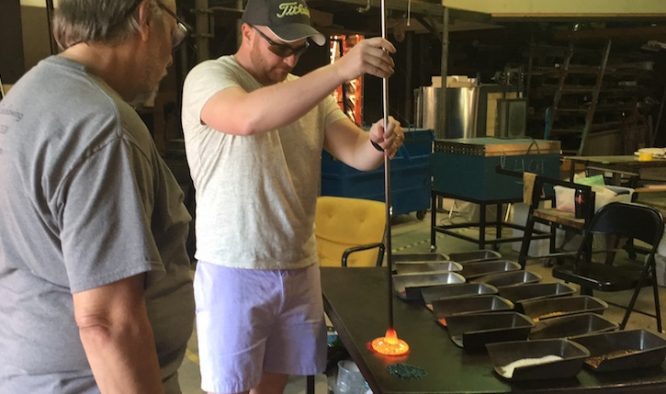 Date Night Idea: Glassblowing Class in Atlanta, GA | Redheadbabymama.com