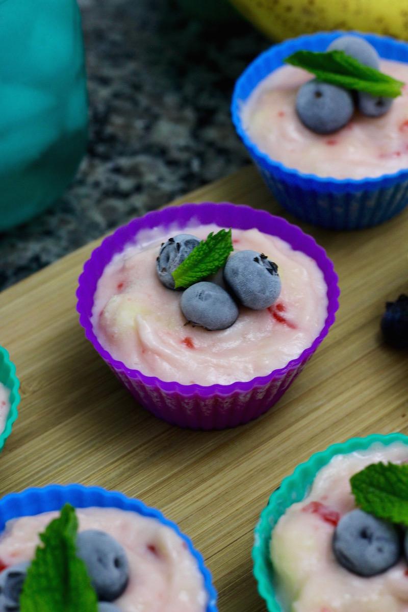 Frozen Fruit Salad Cups, a simple to make, vintage-style, frozen snack. | Redheadbabymama.com