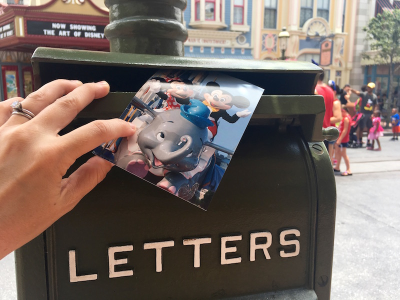Walt Disney World Magic Kingdom Mailboxes on Main Street, U.S.A. really work! Send mail back home! | redheadbabymama.com