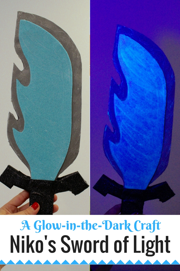 Amazon Original Series Niko and the Sword of Light. Make your own sword of light craft and let it GLOW! | Redheadbabymama.com