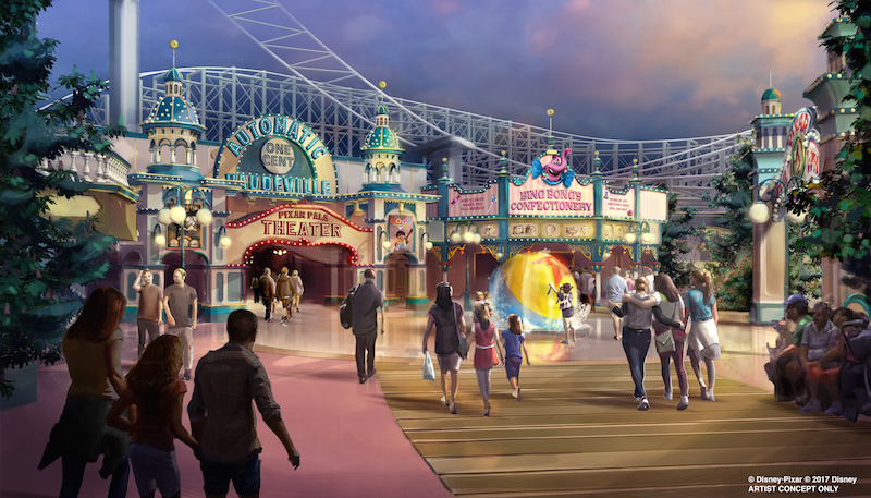 Paradise Pier will be renamed and reimagined as PIXAR Pier, with a place for every pixar character