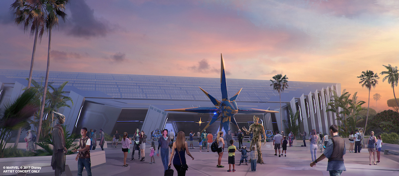 Guardians of the Galaxy Attraction will come to Epcot Future World and Walt Disney Parks