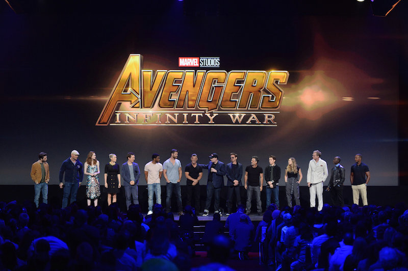 Marvel Superheros join Feige onstage to announce more excitement about Avengers Infinity War