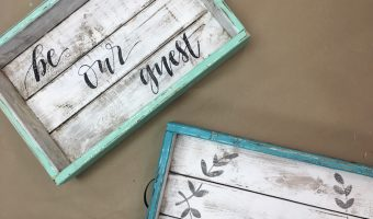 Bed and Breakfast Tray DIY from Project Studio with Hand Lettering