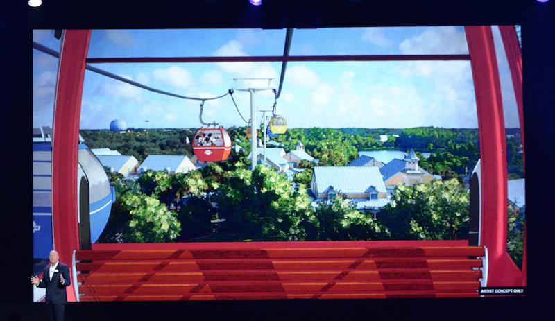 Walt Disney World Skyliner Gondolas for Transportation MAP shows Epcot and Hollywood Studios connecting at Walt Disney World