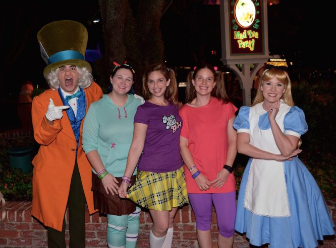 Adults in Costume at Mickey's Not So Scary Halloween Party