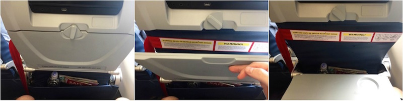 Guests behind your child can still use tray table and video screens on DELTA flights. | Redheadbabymama.com