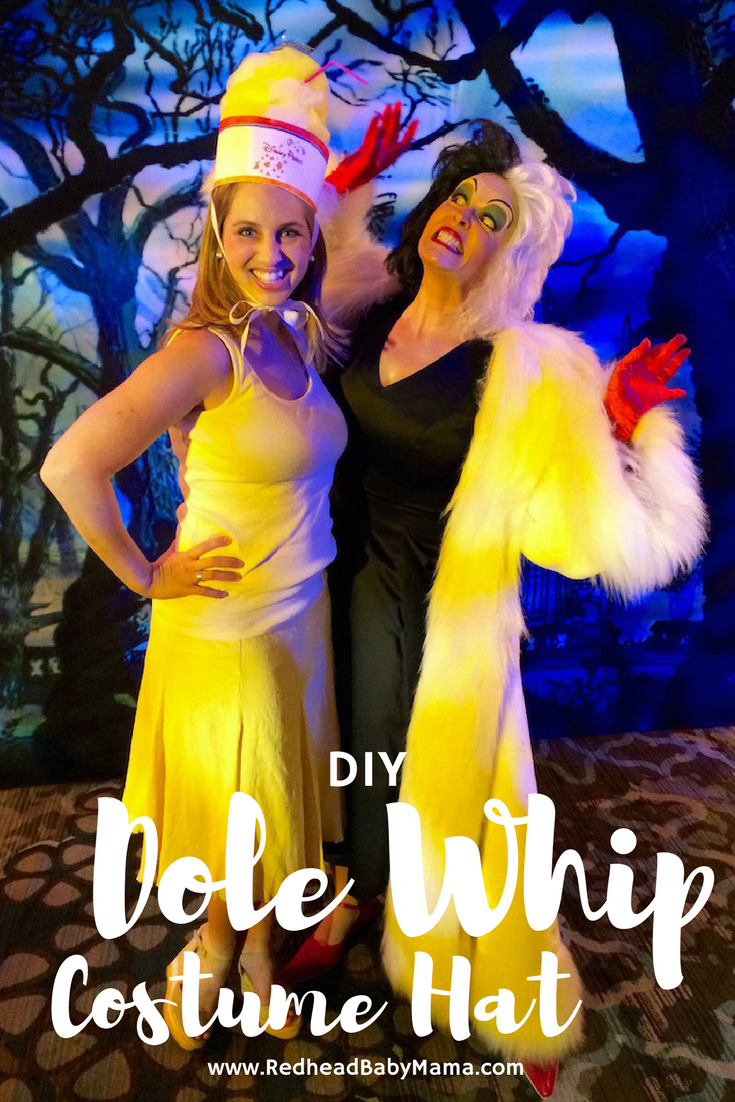 How to DIY a Dole Whip Costume Hat | Redheadbabymama.com