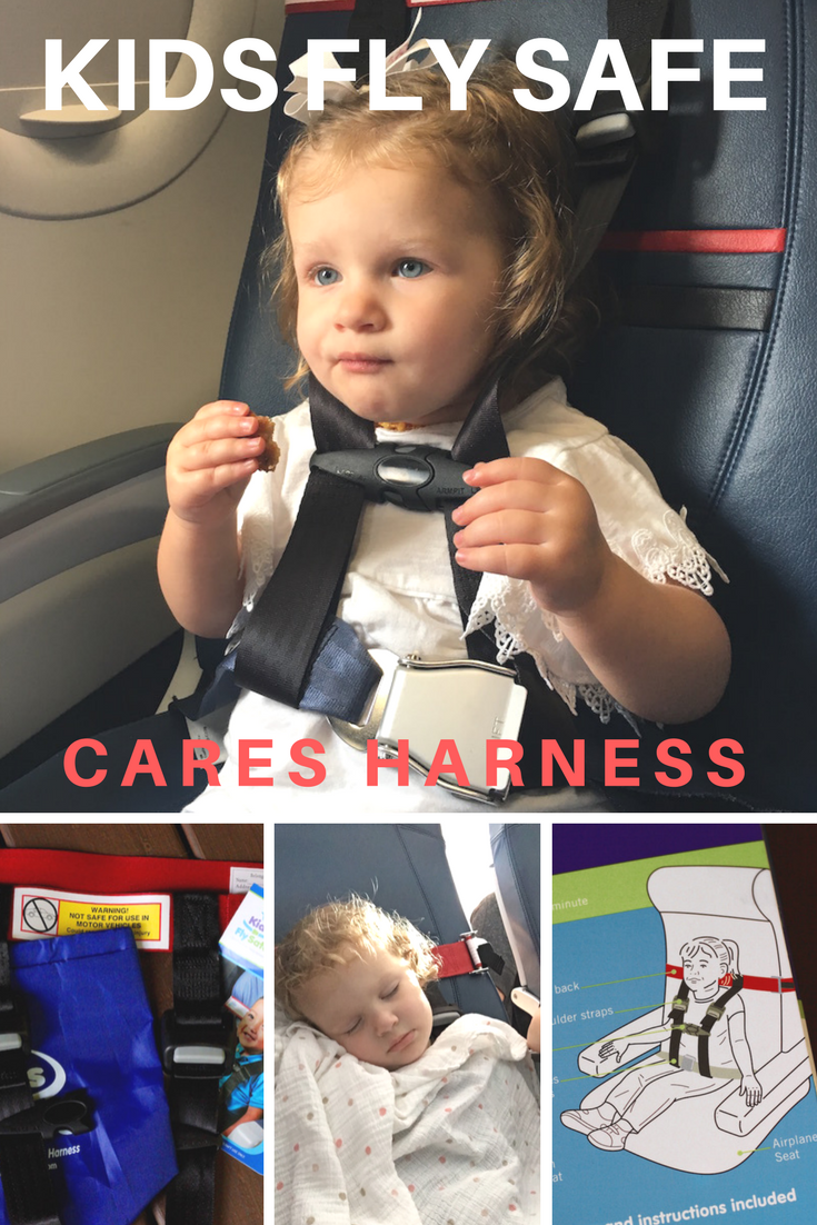 Kids Fly Safe with a CARES Harness in their own airline seat. | Redheadbabymama.com