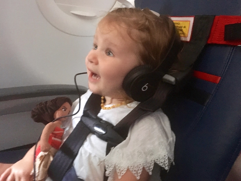 Toddlers Fly Safe with a CARES Harness in their own airline seat. | Redheadbabymama.com