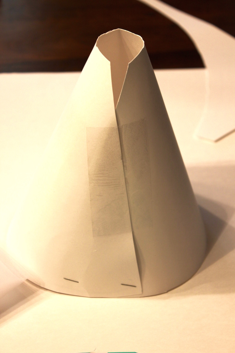 Dole Whip Costume Hat Cone Base, step by step