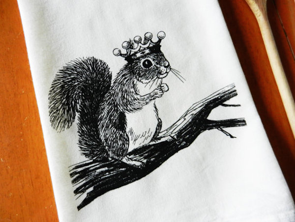 Gifts for Squirrel Lovers tea towel