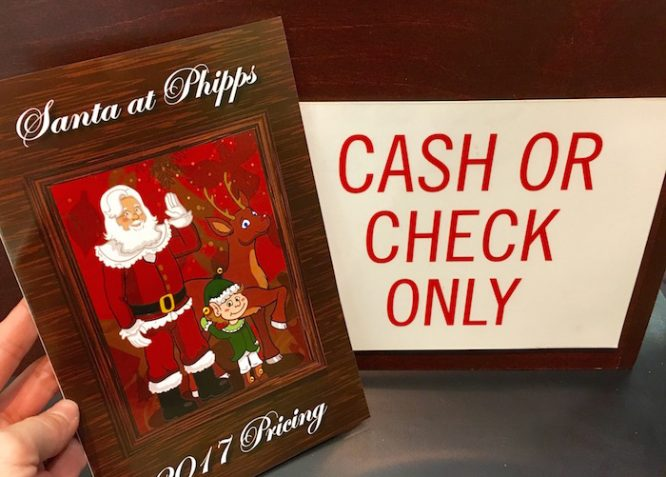 Bring cash or check to purchase pictures with the Real Santa at Phipps! | Redheadbabymama.com