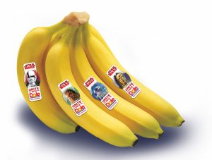 DOLE bananas with Star Wars label stickers to UNITE a Healthy Galaxy | Redheadbabymama.com