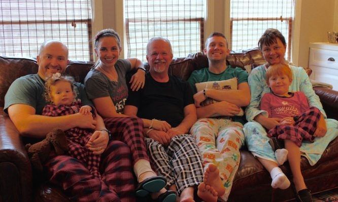 Extended family christmas pajamas