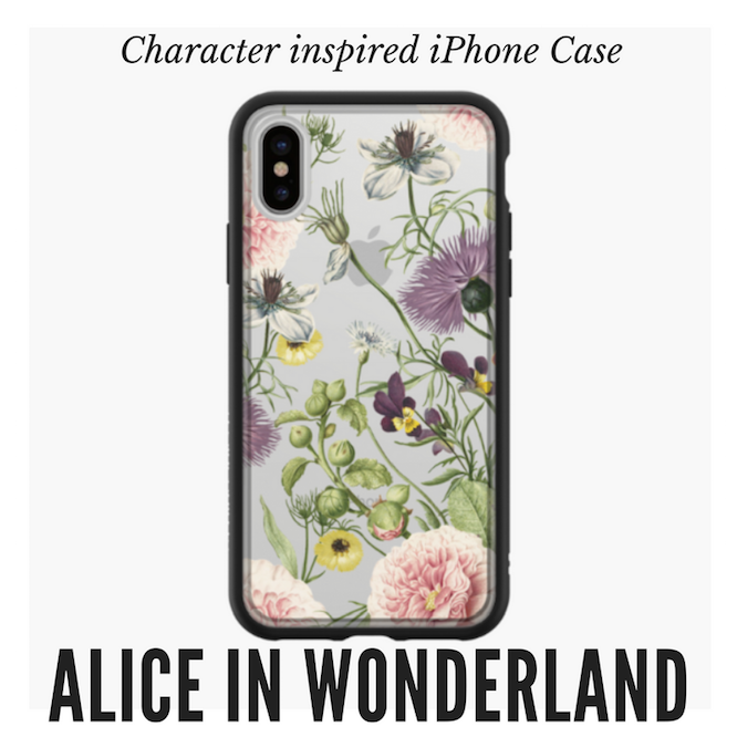 Alice Wonderland Flowers iPhone Case