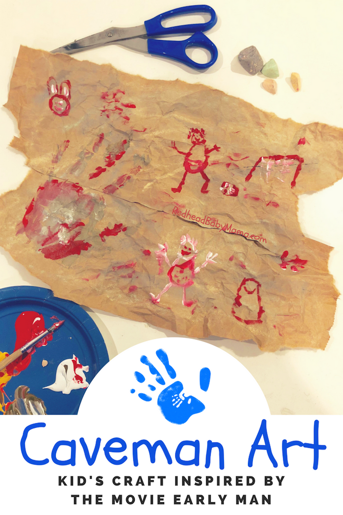 Early Man Inspired Caveman Cave Painting Craft