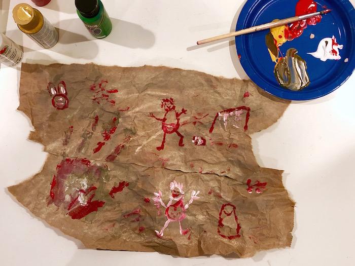 Caveman Art Paint Craft