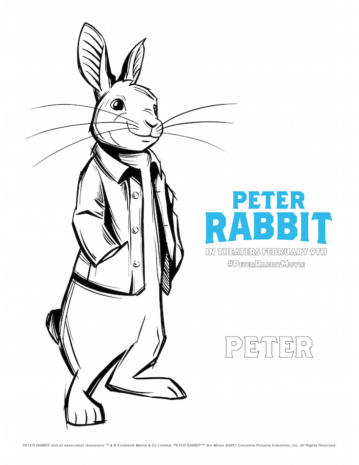 Peter Rabbit Movie Coloring Pages - Redhead Baby Mama | Atlanta Blogger