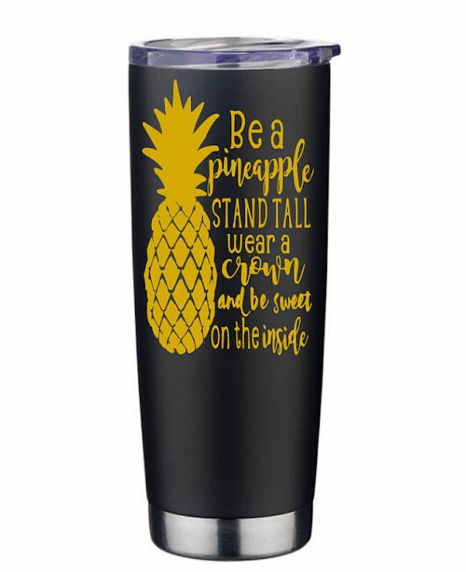 royal pineapple water bottle