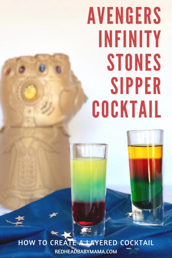 Avengers Infinity Stones Cocktail Layered Drink