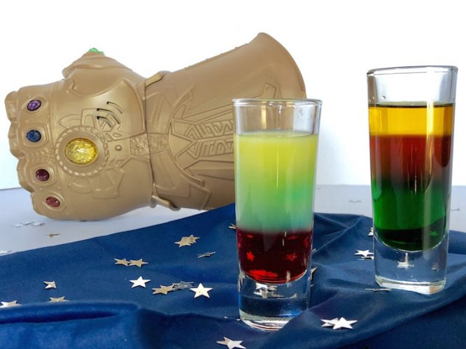 create a layered cocktail avengers infinity stones