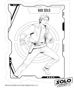 han solo coloring page