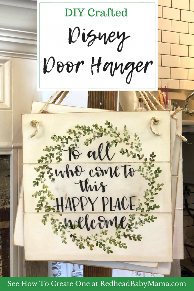 Disney Door Hanger Quote