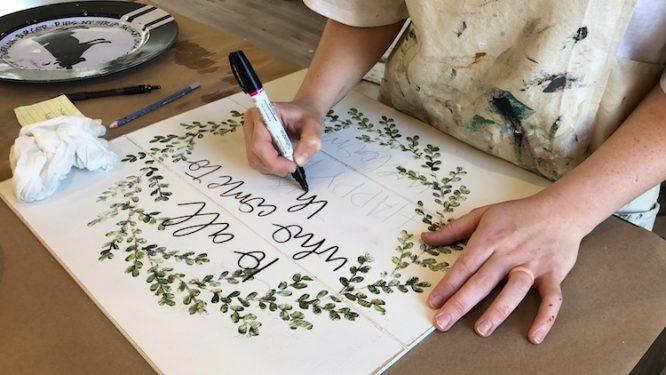 Hand Lettering Cursive