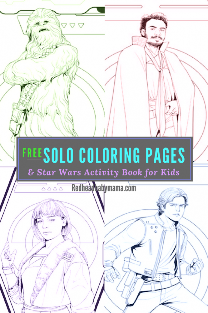 Star Wars Solo Coloring Pages Activity Book