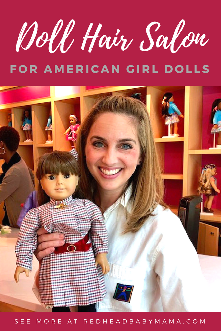 Visit the American Girl Doll Hair Salon. I took my vintage Samantha for a refresh and loved my results! #ad