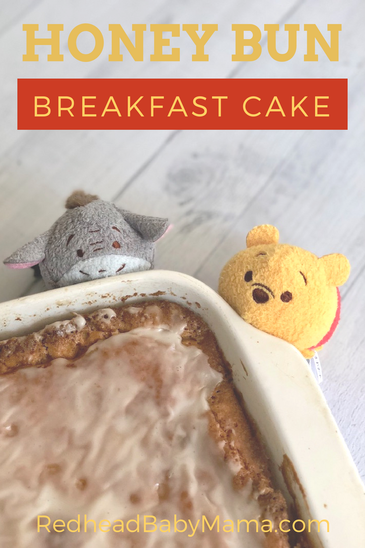 honey bun breakfast cake for Pooh and Friends