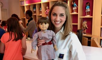 My Original Samantha Doll visits the American Girl Doll Hair Salon