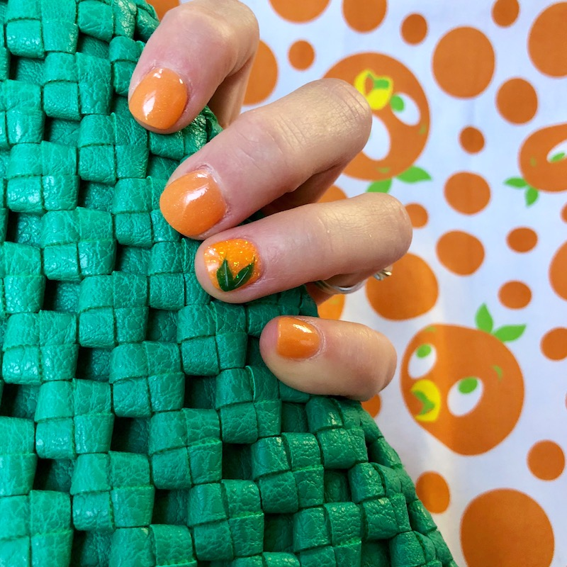 Orange Bird Disney Nails