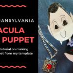 Hotel Transylvania 3 Dracula Hand Puppet Craft