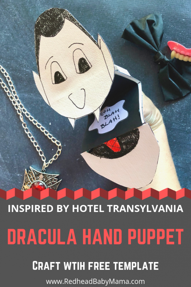Dracula Hand Puppet Craft FREE template