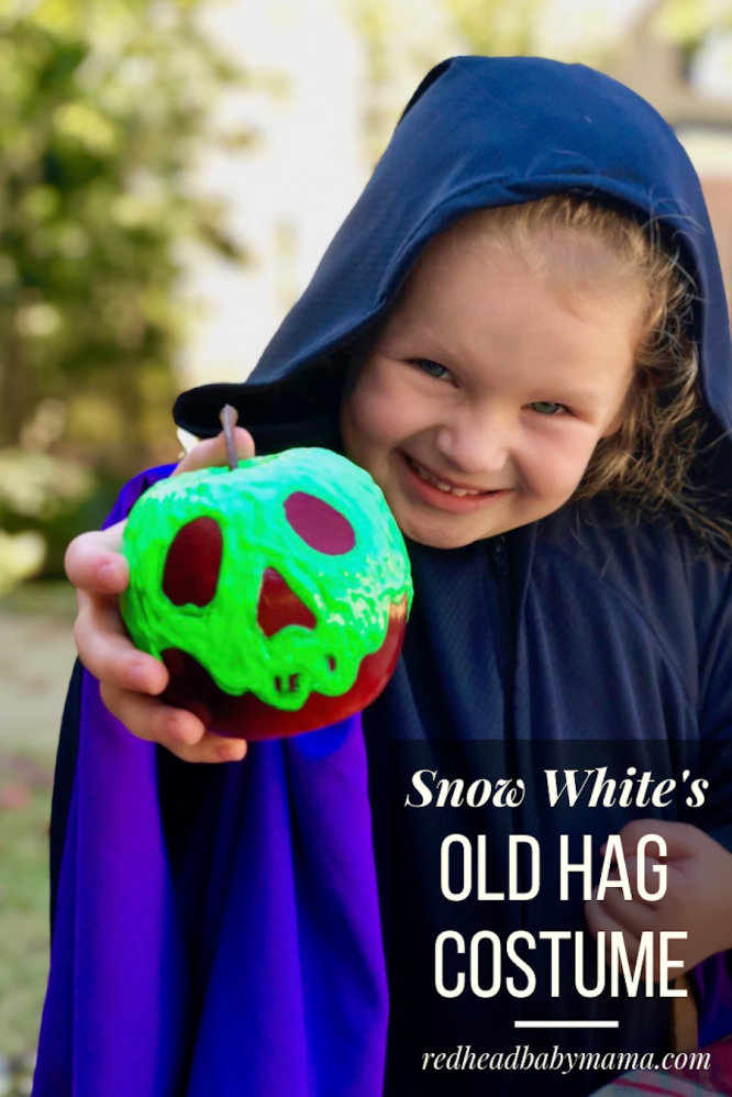 Just one bite, sweetie! You'll die over this Snow White Old Hag Costume direct from the Evil Queen's potion cup. Pair with my poison apple prop for Halloween.
