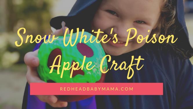 Snow White Poison Apple Prop craft