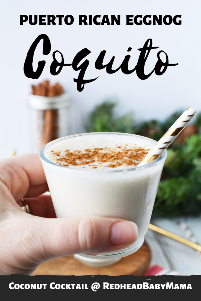 Break out your tropical tastebuds! Puerto Rican coconut style eggnog cocktail is here to celebrate the holidays! Coquito is sweet & full of Christmas cheer.