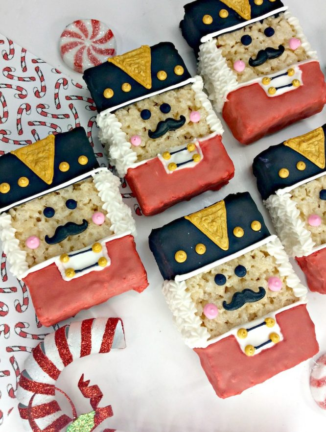 Nutcracker Rice Krispy Treats for Christmas