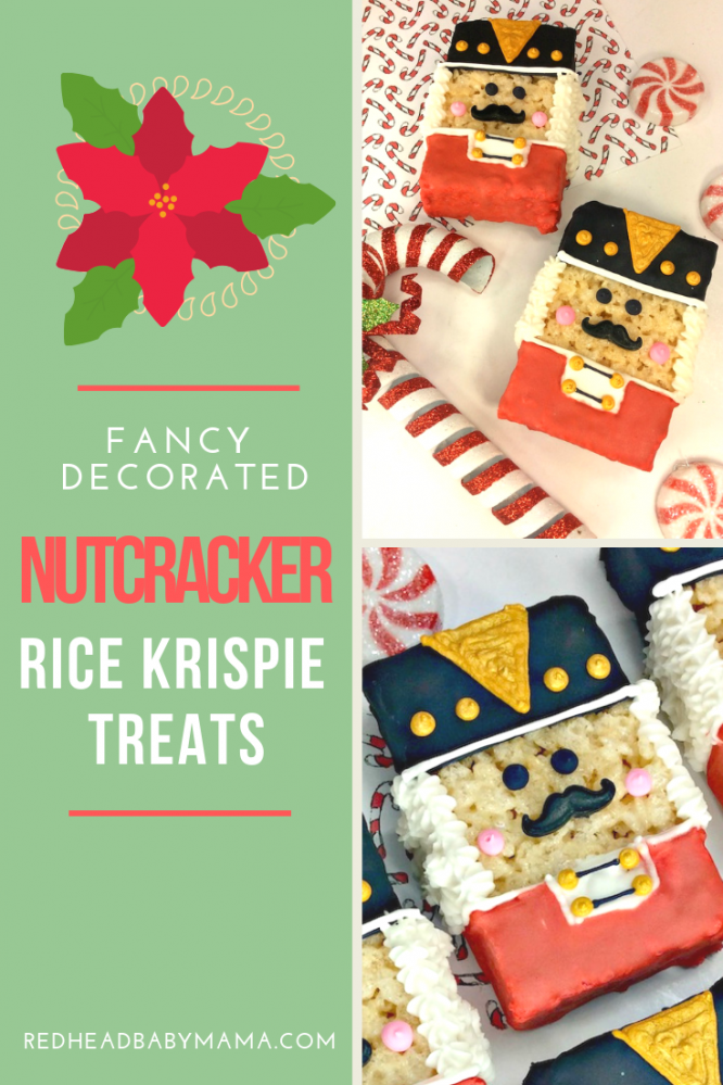 Nutcracker Rice Krispie Treats for Christmas