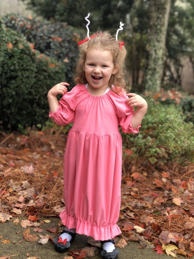 Cindy Lou Who pink dress costume for kids