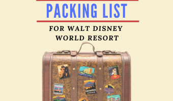 FB Complete Packing List for Disney
