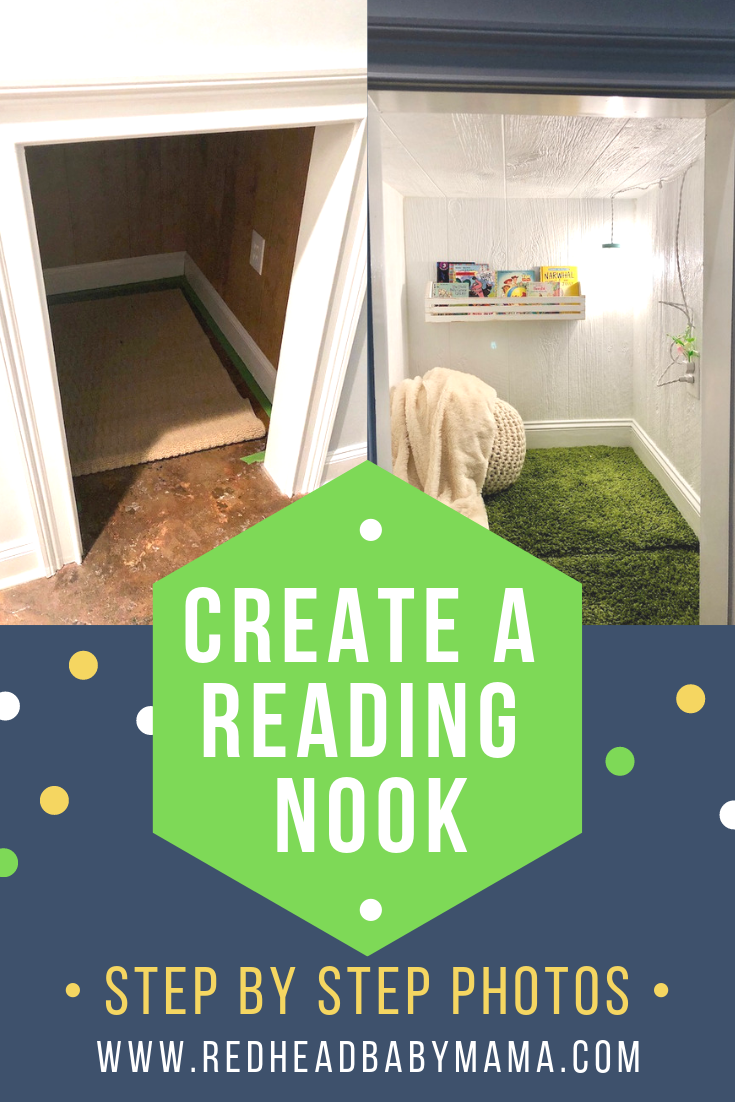Create your own reading nook from an under-the-stairs dog kennel. The result is a fresh, clean, white reading area that's calming and makes kids happy!