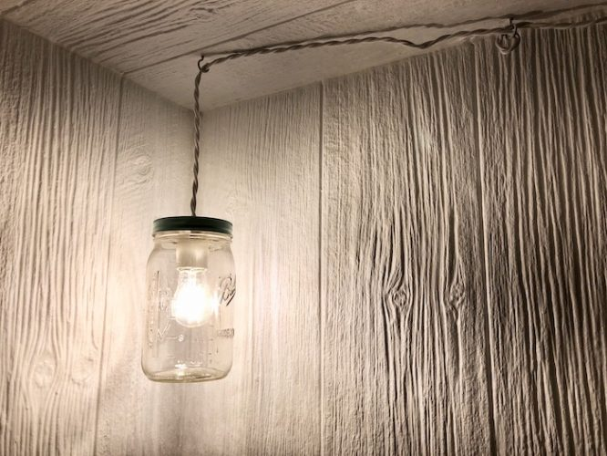 hanging mason jar lantern for kids LED