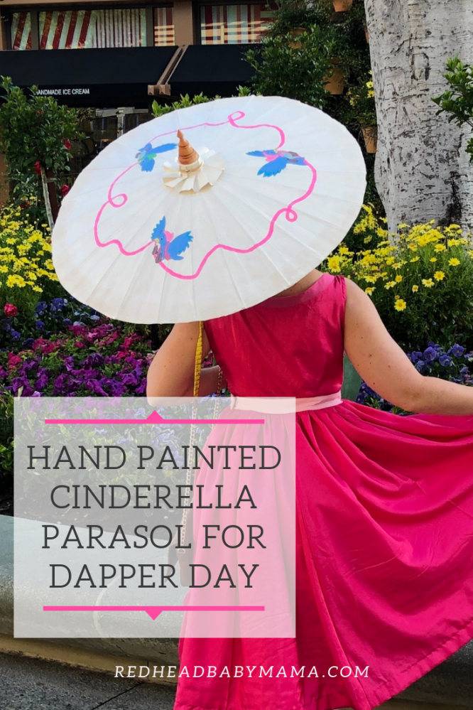 Hand Painted CInderella Parasol for Dapper Day Pin