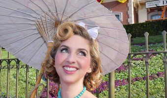 Cinderella Dapper Day with handpainted Parasol